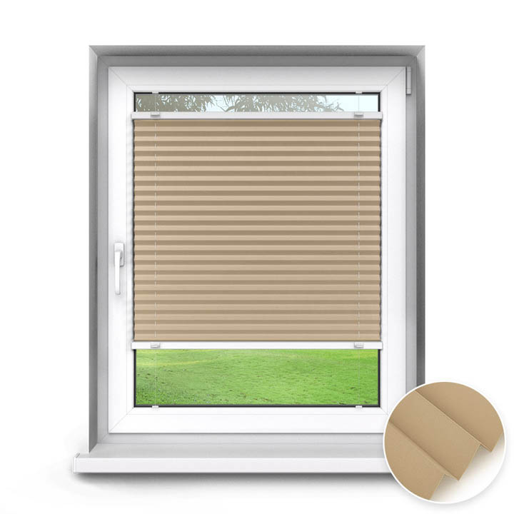 Trimmed to size Standard Pleated Blind, Beige