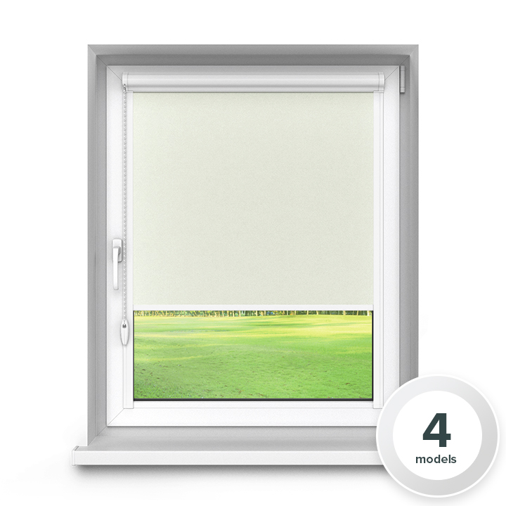 Blackout Aluminium PureNight Premium Roller Blind, White