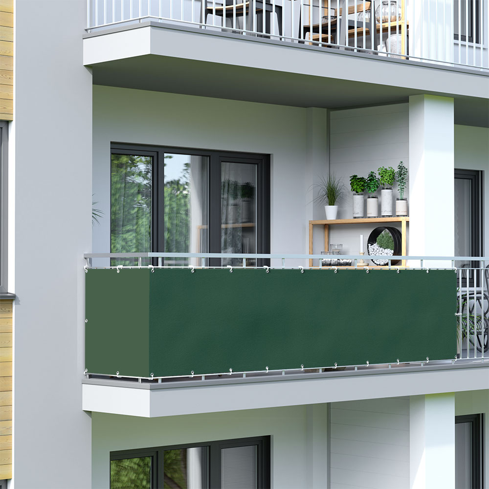 Balcony Screen, Waterproof, Dark green