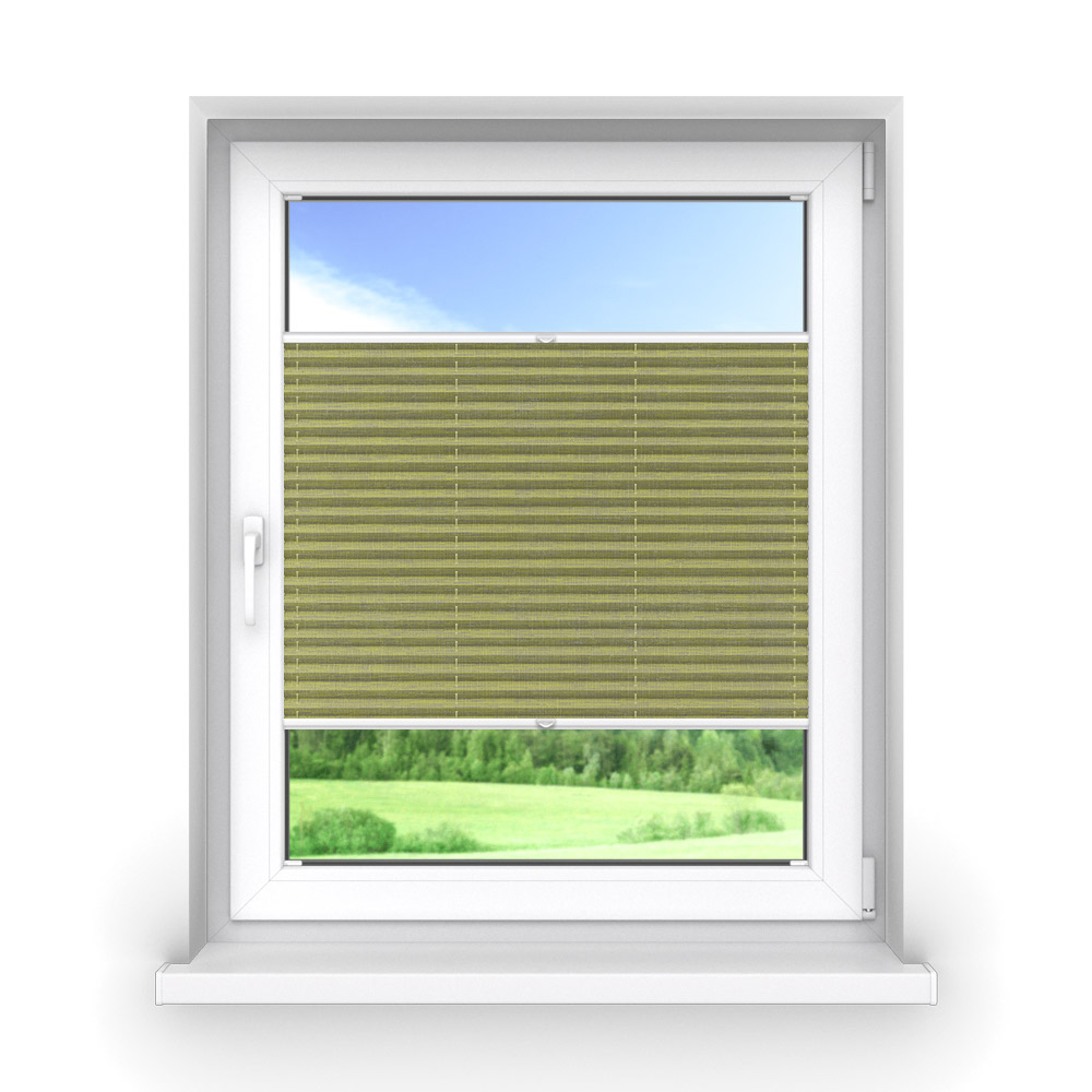 Transparent Premium Pleated Blind, Ines Lime