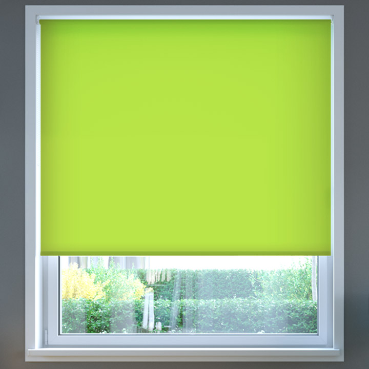 Darkening Standard Roller Blind, Apple Green