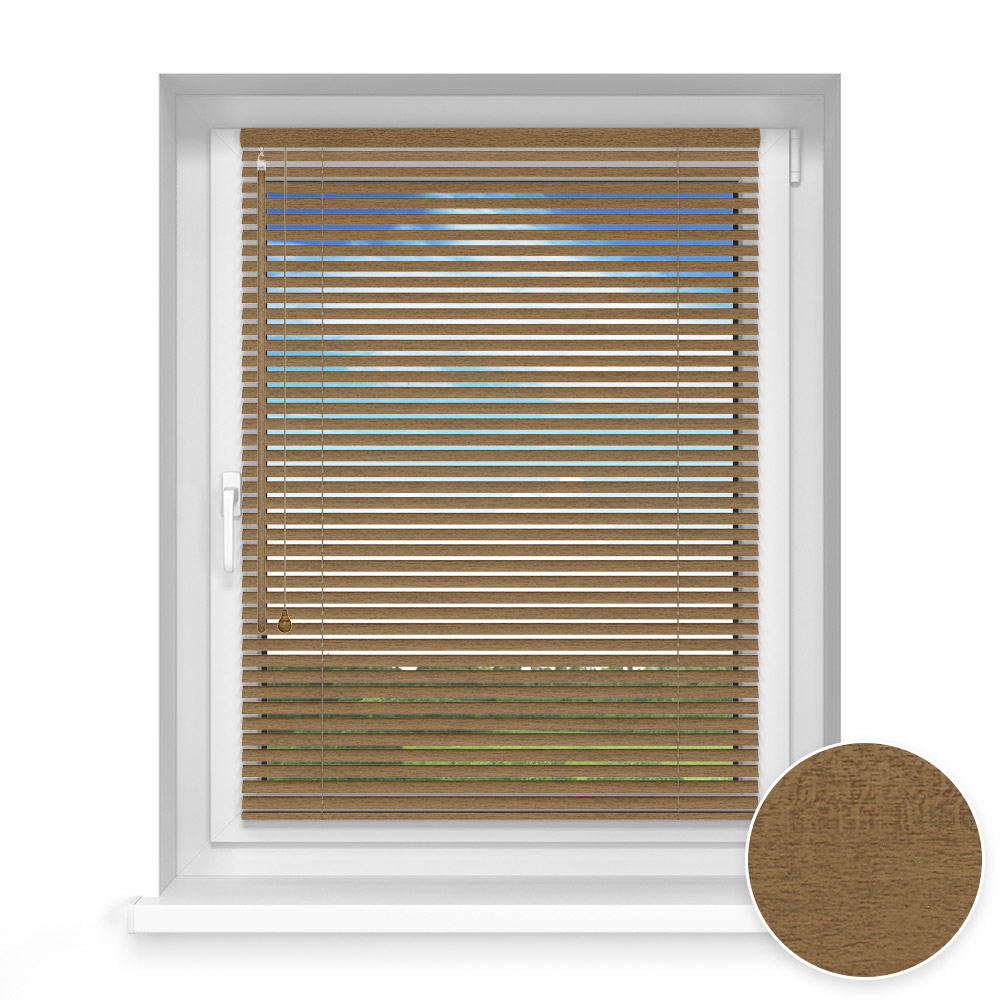 25 mm slat Wooden Blind, Oregano