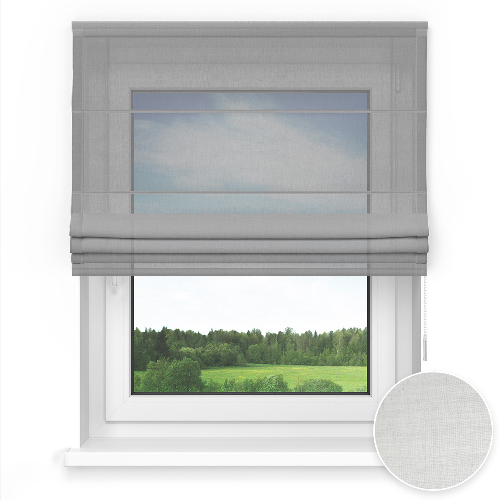 Transparent Standard Roman Blind, Cinerious