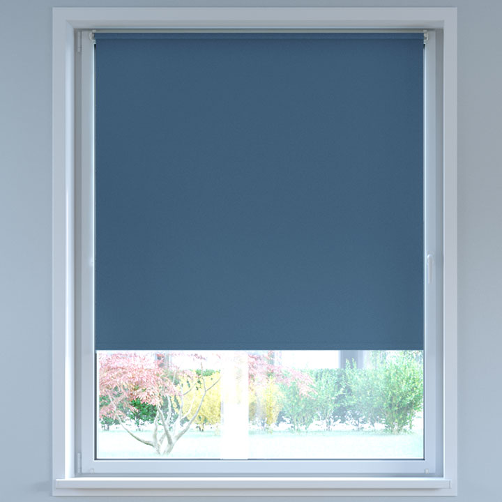 Blackout No Drill Roller Blind, Navy blue