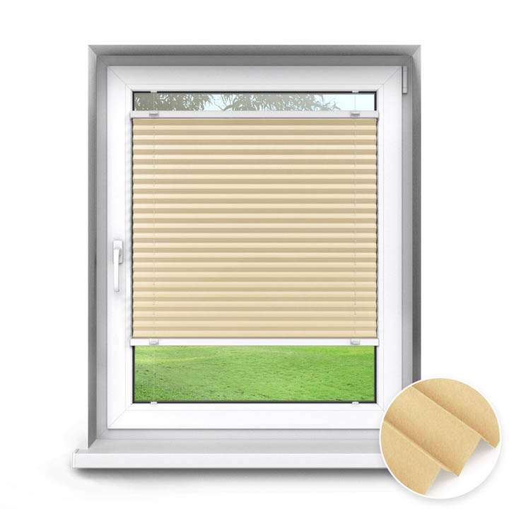 Trimmed to size Standard Pleated Blind, Oatmeal