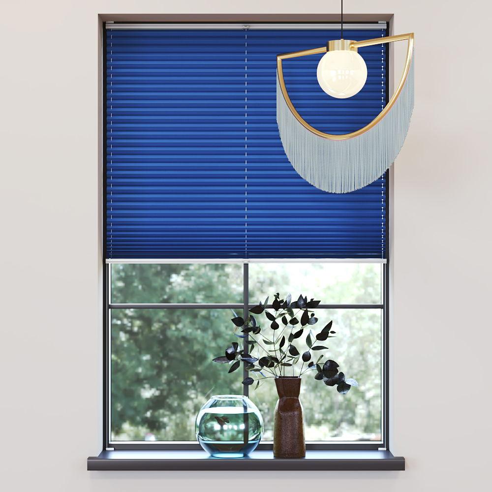 Trimmed to size Pleated Blind, Carla Blue