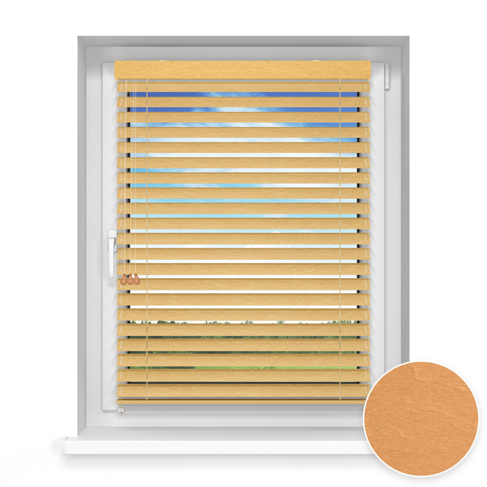 50 mm slat Wooden Blind, Tumeric