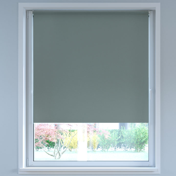Blackout No Drill Roller Blind, Anthracite