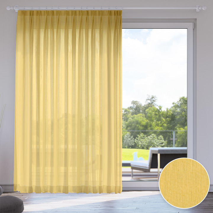 Voile Made to Measure Livani Curtain, Pumpkin Puree