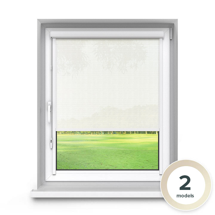 Transparent PVC PureNight Premium Roller Blind, Ecru