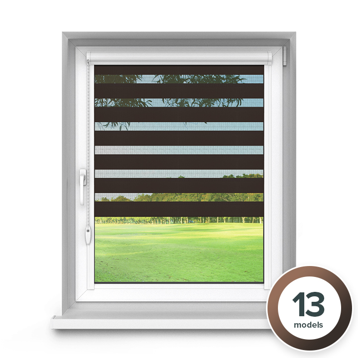Aluminium PureNight Premium Day and Night Blind, Brown