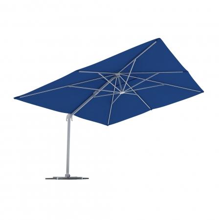 Rectangular Garden Umbrella, 4x3 m, Blue