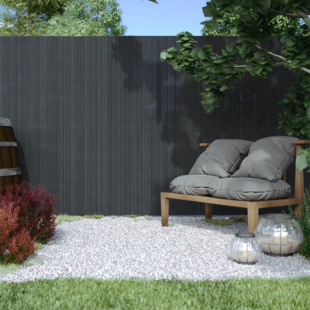 PVC screen border 13 mm, Grey