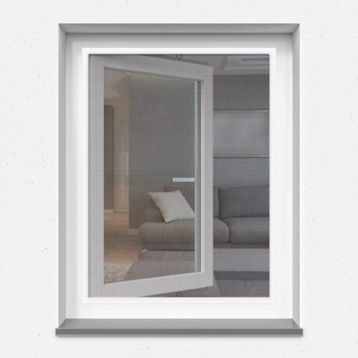 Mosquito window net in frame