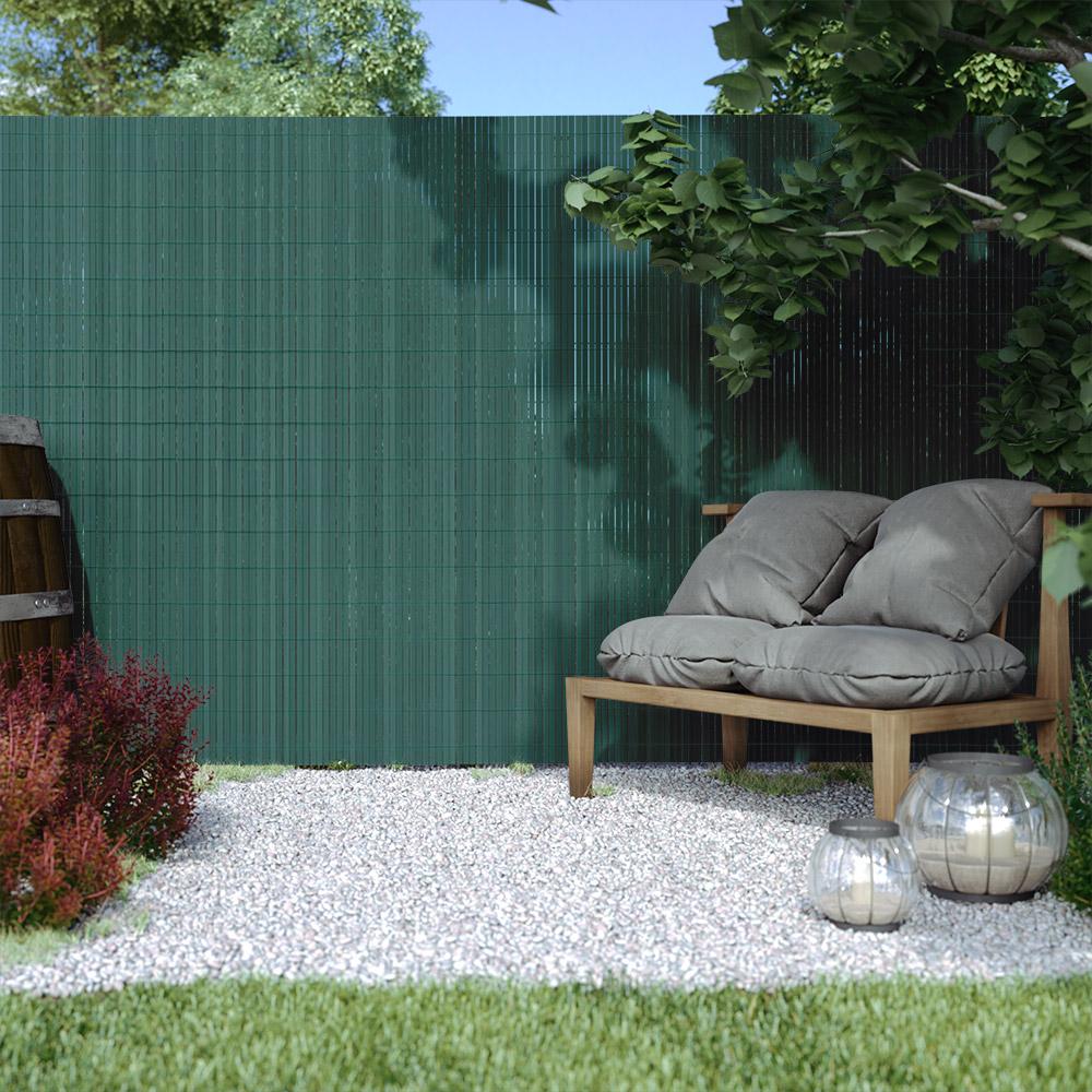 PVC screen border 17 mm, Green