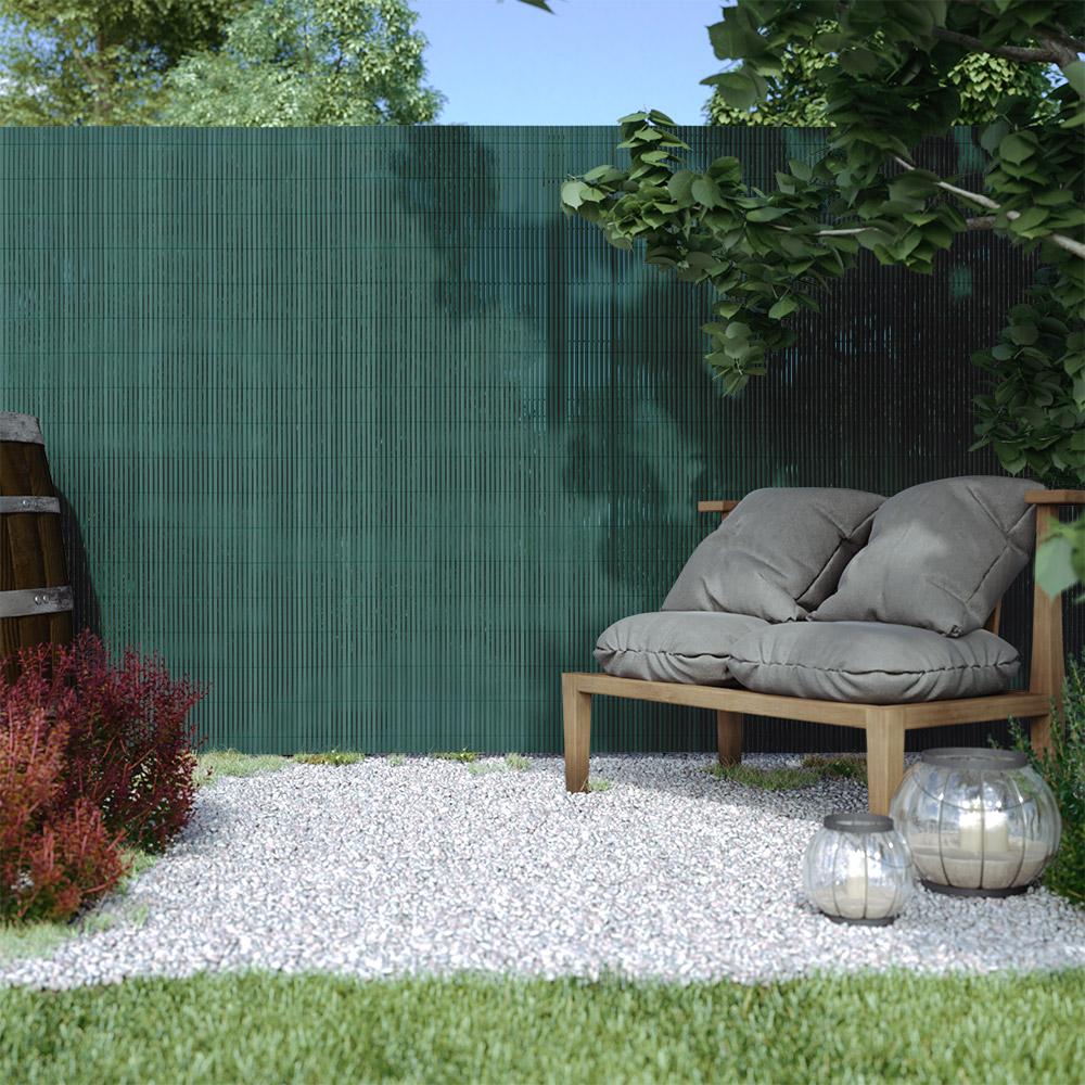 PVC screen border 13 mm, Green