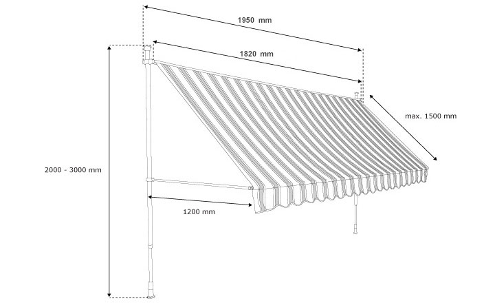 Balcony Awning technical details