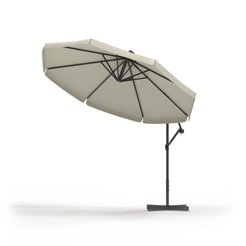 Round Garden Umbrella, 3 m, Ecru