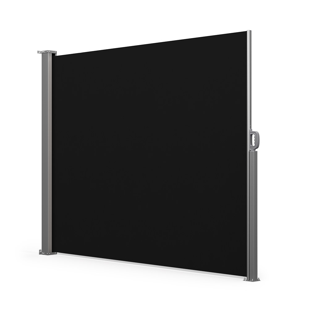 Retractable Patio Windbreak, Ready made, Black