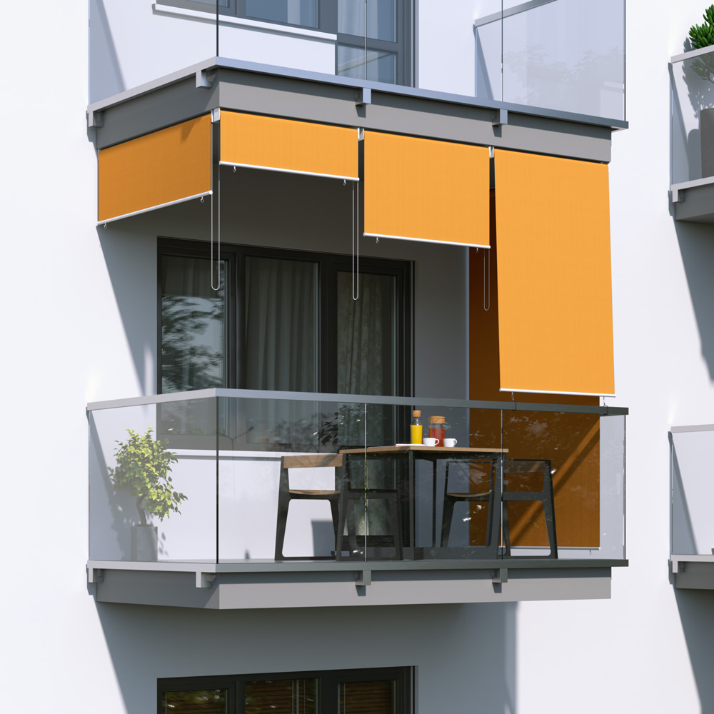 Outdoor Balcony Blind, Ready made, Orange