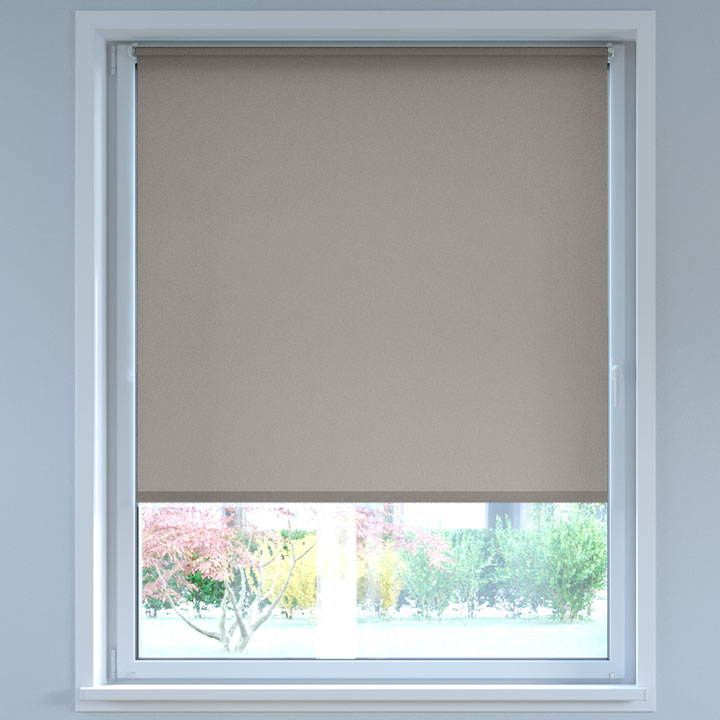 Darkening No Drill Standard Roller Blind, Dark Grey