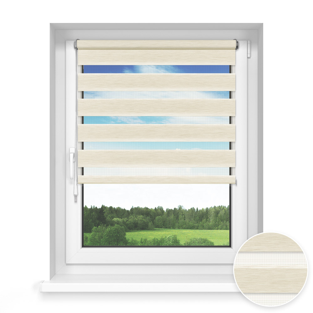 No Drill Standard Day and Night Blind, Marble