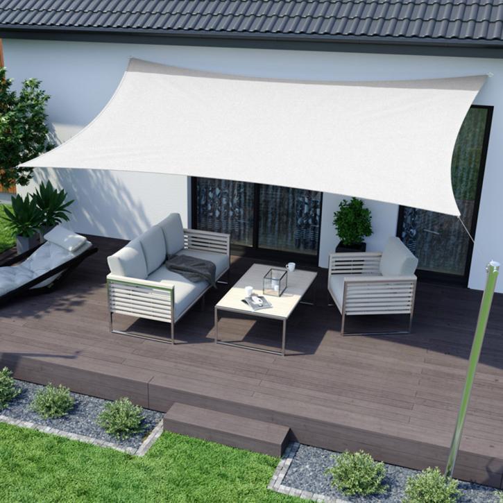 Sun Shade Garden Sail, rectangle, respirable