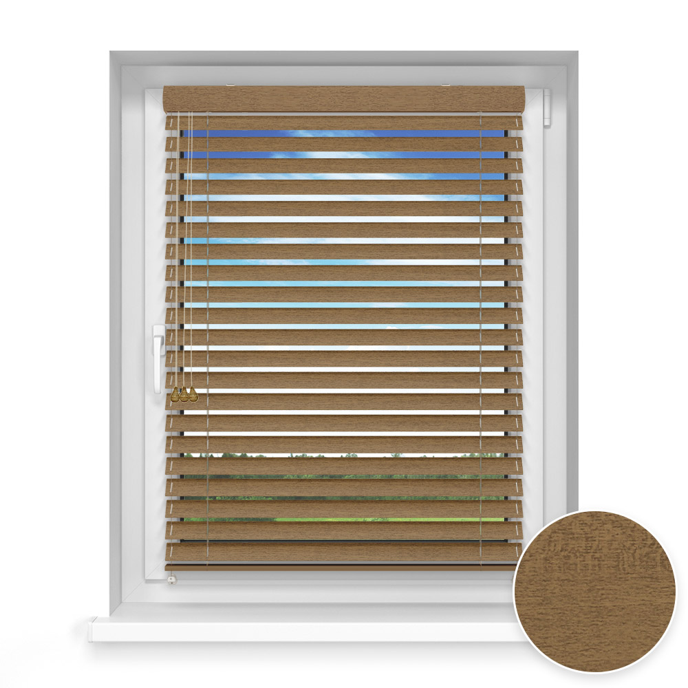 50 mm slat Wooden Blind, Oregano