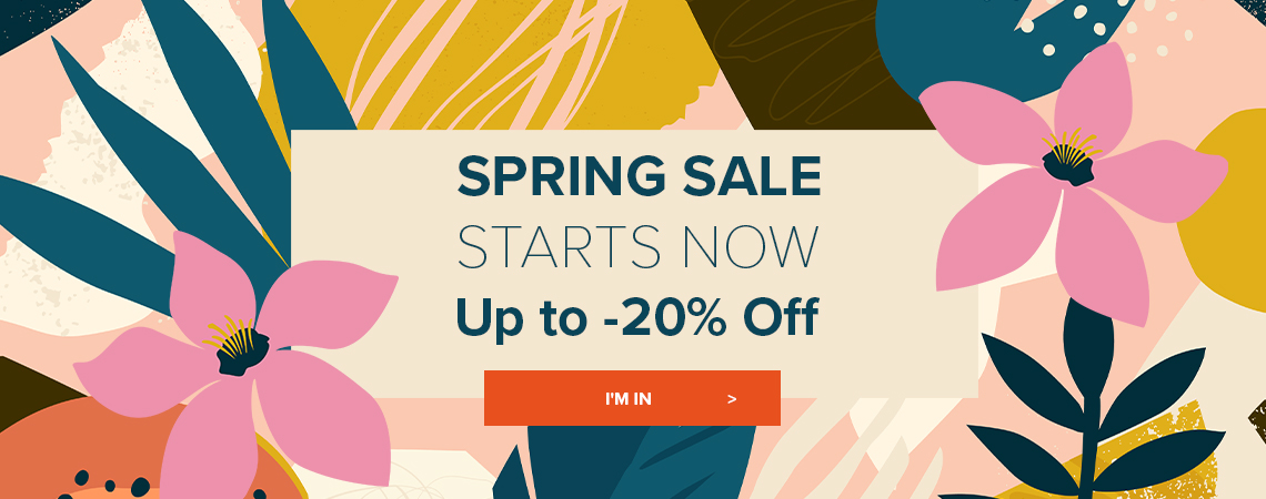 Spring sale starts now!