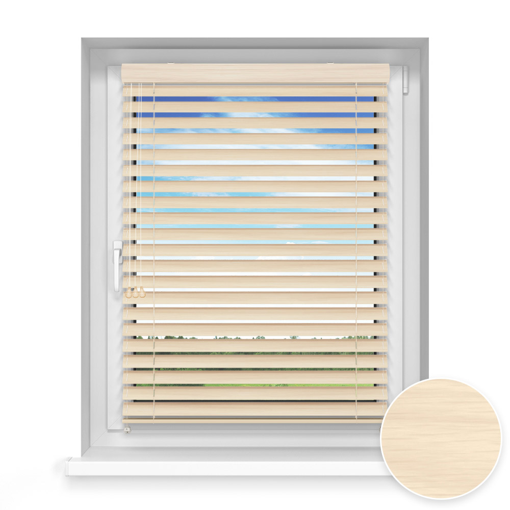 50 mm slat Wooden Blind, Ginseng