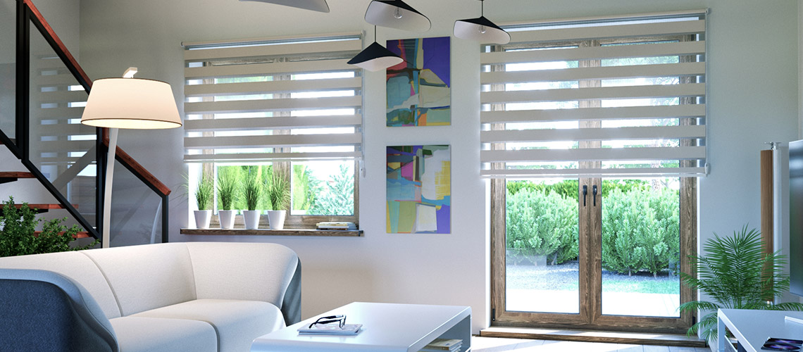 Free-hanging Day and Night Roller Blind