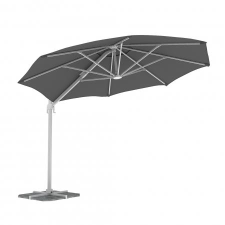 Round Garden Umbrella, 3,5 m, Grey