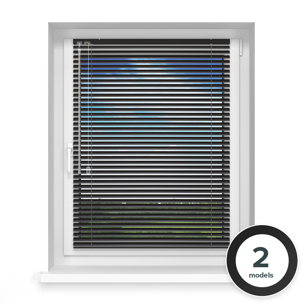25mm slat Aluminium Blind, Charcoal matt
