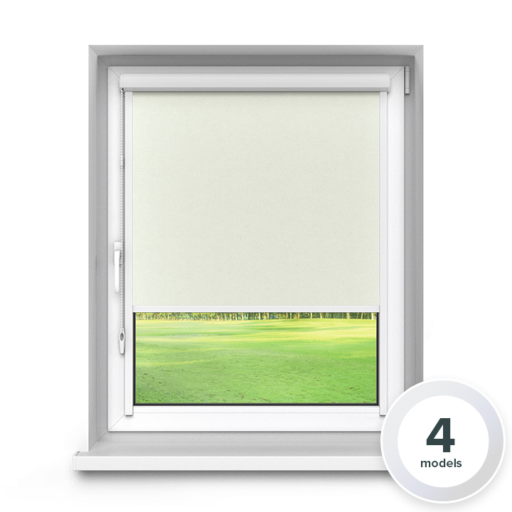 Blackout PVC PureNight Premium Roller Blind, White