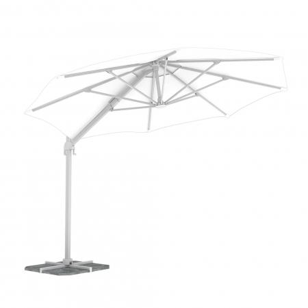 Round Garden Umbrella, 3,5 m, White