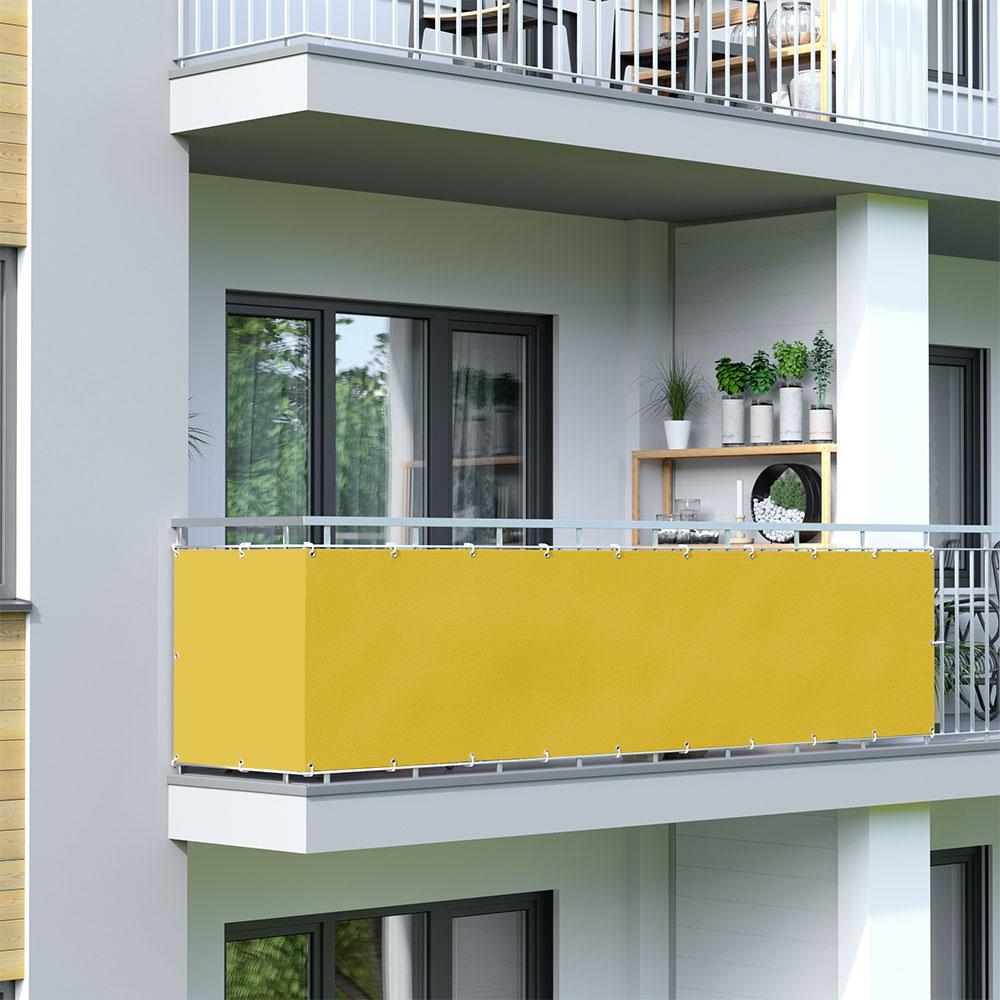 Balcony Screen, Waterproof, Yellow