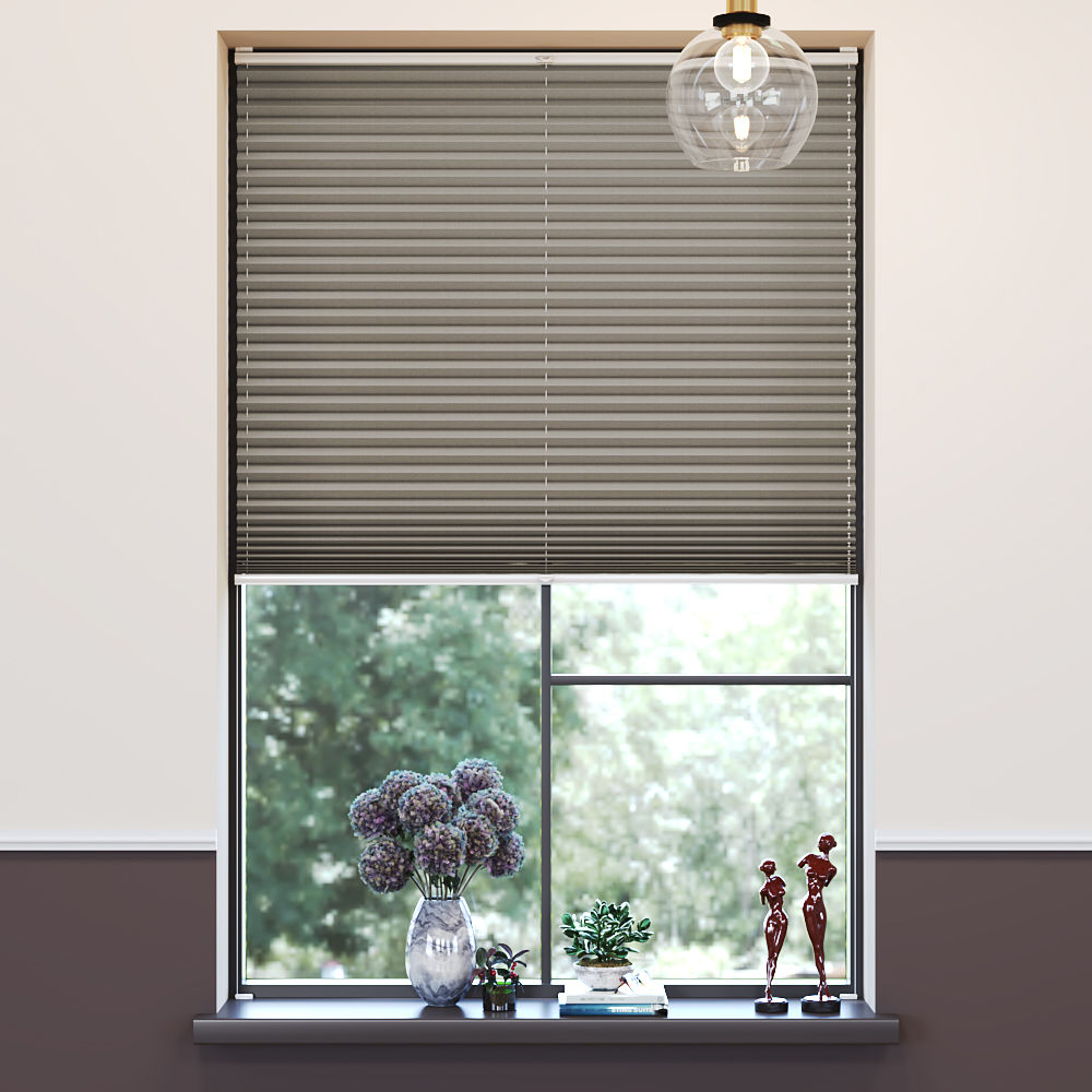 Blackout Premium Pleated Blind, Lily Cappucino