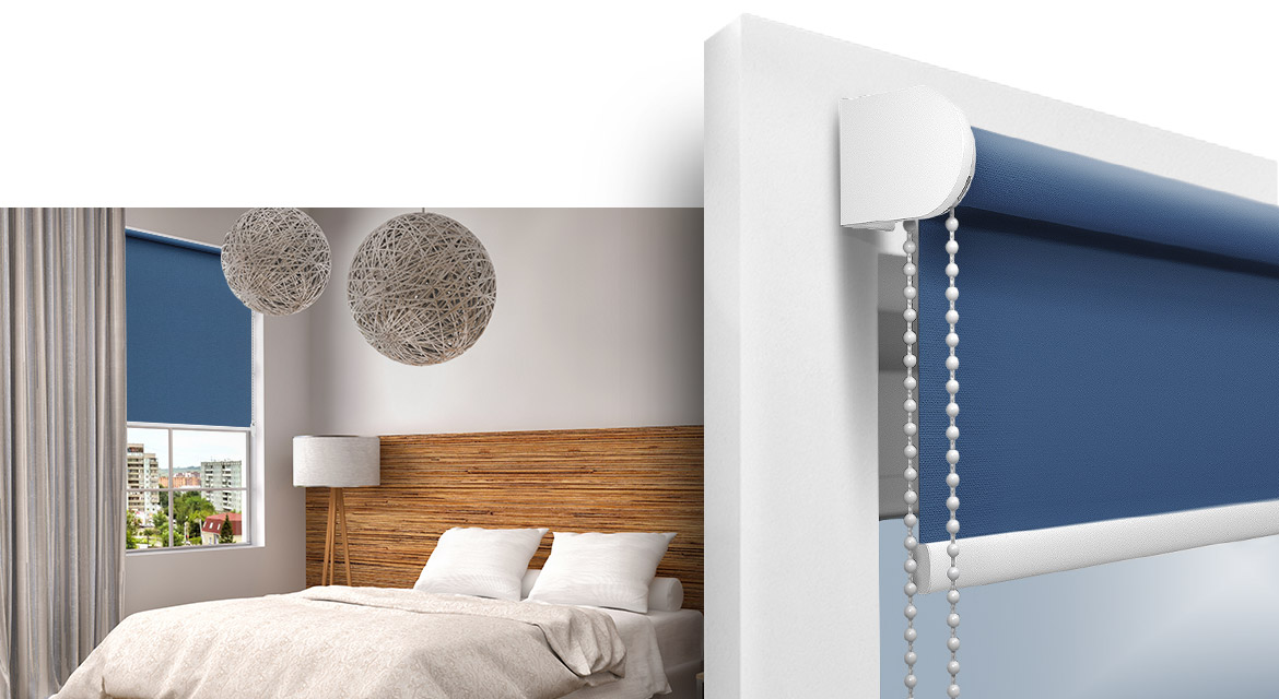 Free-hanging made to measure roller blind