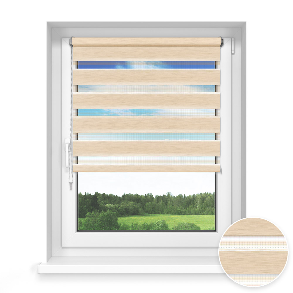 No Drill Standard Day and Night Blind, Straw