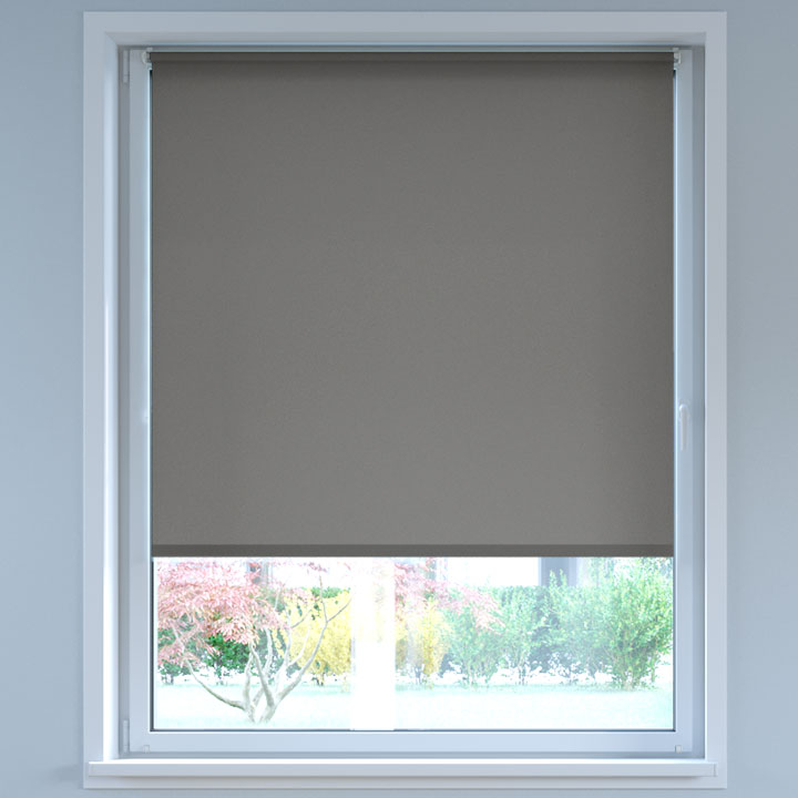 Darkening No Drill Roller Blind, Grey