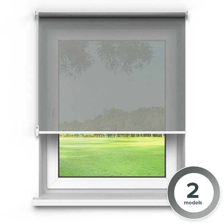 Transparent Premium Roller Blind, Grey