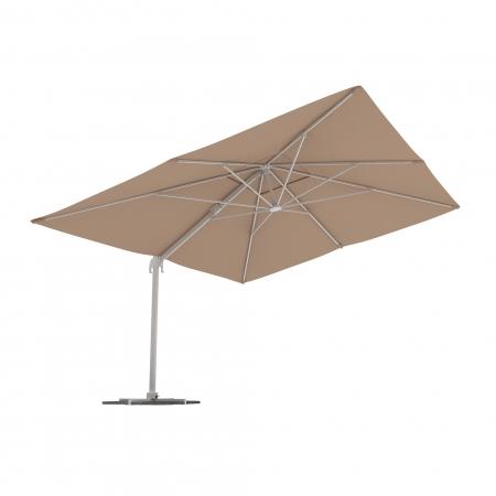 Rectangular Garden Umbrella, 4x3 m, Cream