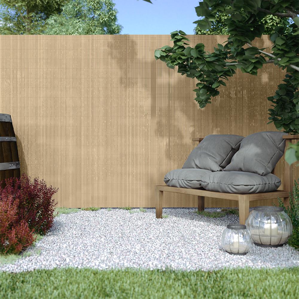 PVC screen border 13 mm, Bamboo