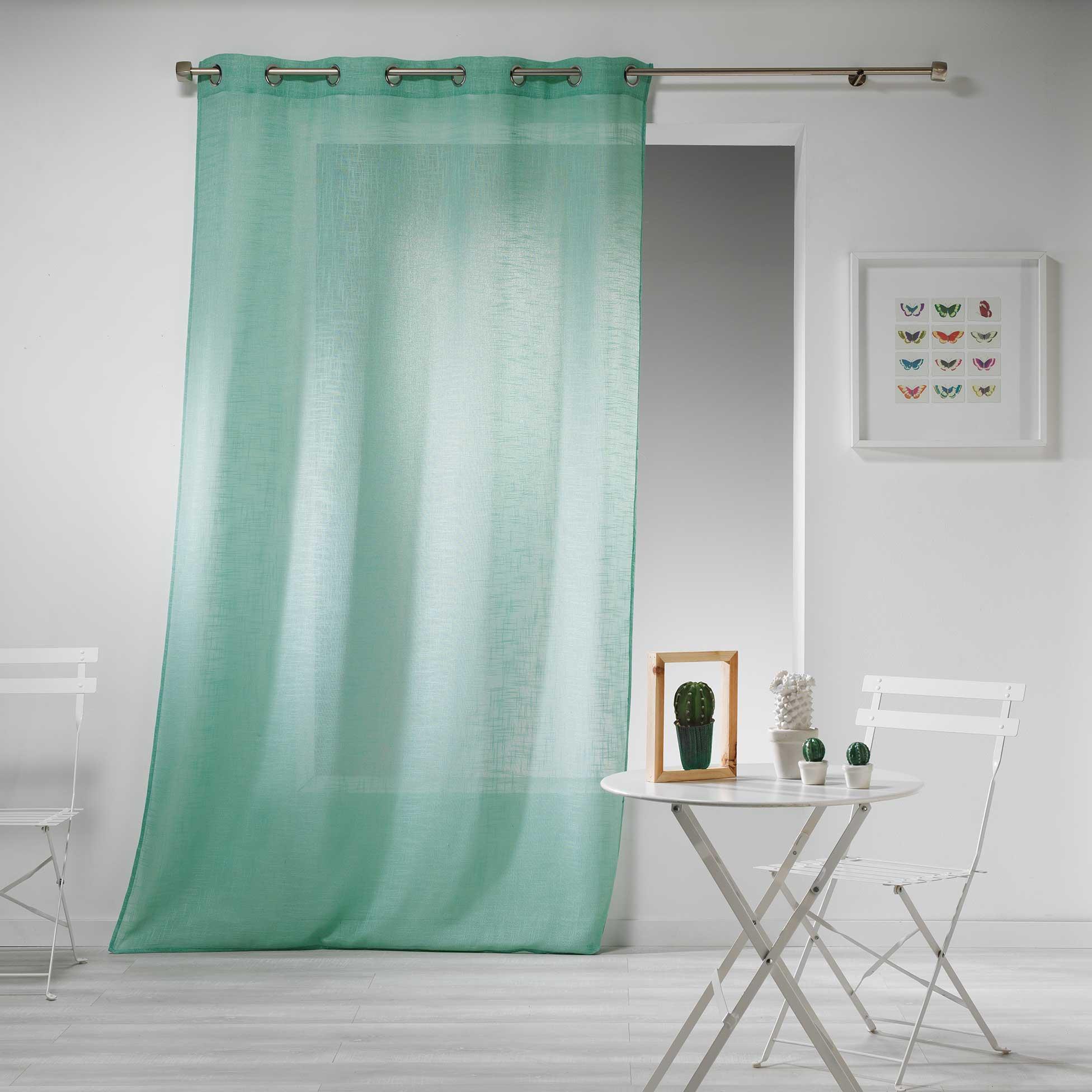 Transparent Eyelet Curtain Gaya, Mint