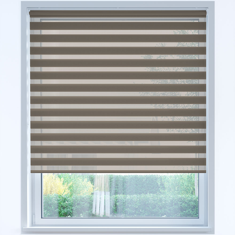 Standard Day and Night Roller Blind, Cocoa