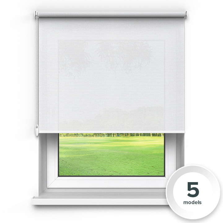 Transparent Premium Roller Blind, White