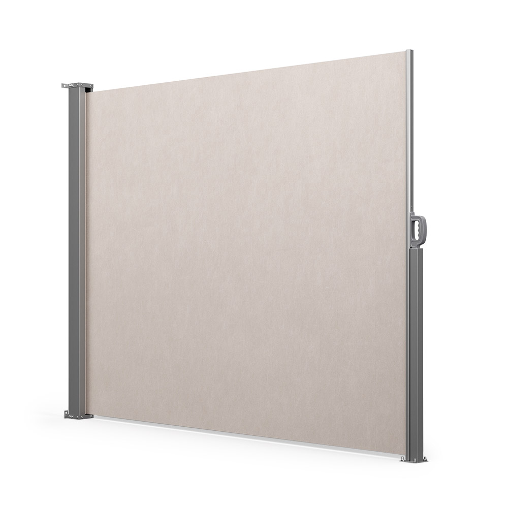 Retractable Patio Windbreak, Ready made, Cream