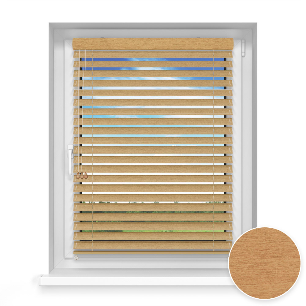 50 mm slat Wooden Blind, Curry