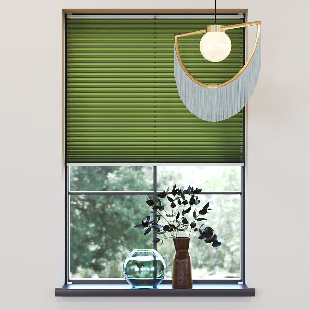 Trimmed to size Pleated Blind, Carla Green
