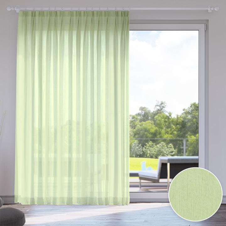 Voile Made to Measure Livani Curtain, Pistachio